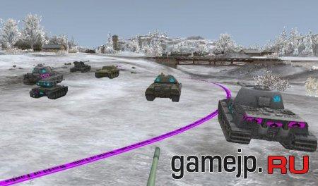 Зоны пробития топливных баков и боеукладки танков в 0.9.15.0.1