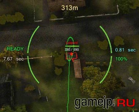 Арт прицел с датчиком полета снаряда для World of tanks
