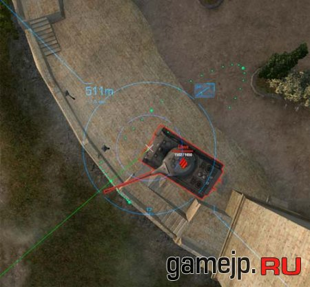 Голубой прицел для World of Tanks 0.9.0