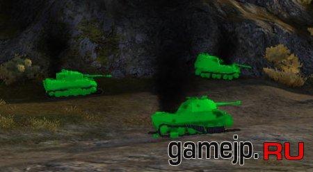 Зеленые трупы танков World of Tanks 0.9.0