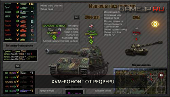 XVM-конфиг от Peqpepu для World of Tanks 0.9.0