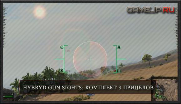 Hybryd gun sights: комплект трех прицелов