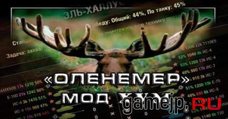 Оленемер или XVM для World of Tanks 0.9.15.0.1