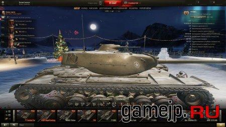 Новогодний ангар с Zoom'ом для World of Tanks 0.9.15.0.1