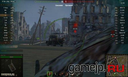 Таймер перезарядки противника над танком 0.9.16