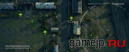 Разрушенные объекты на миникарте показывают расположение противника WOT